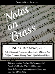 Notes on Brass Concert @ Lake Macquarie Performing Arts Centre