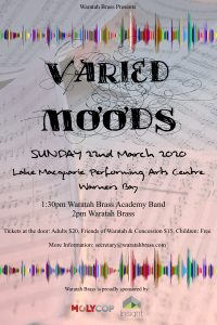 Waratah Brass Presents Varied Moods @ Lake Macquarie Performing Arts Centre