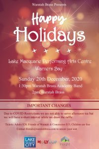 Waratah Brass Christmas Concert @ Lake Macquarie Performing Arts Centre