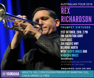 Rex Richardson with Pacific Brass and Waratah Brass – October 2018