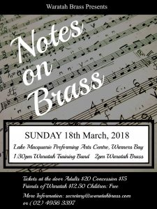 Notes on Brass – March 2018