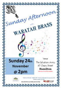 Sunday Afternoon with Waratah Brass – November 2019