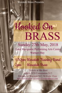 Hooked on Brass Concert – May 2018