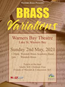 Waratah Brass Presents Brass Variations @ Warners Bay Theatre